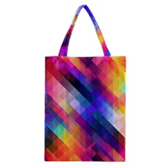 Abstract Background Colorful Pattern Classic Tote Bag