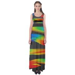 Colorful Background Empire Waist Maxi Dress