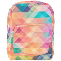 Texture Background Squares Tile Full Print Backpack