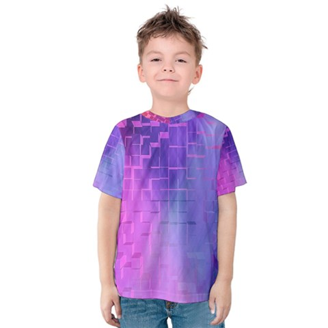 Texture Cell Cubes Blast Color Kids  Cotton Tee by Pakrebo