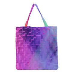 Texture Cell Cubes Blast Color Grocery Tote Bag
