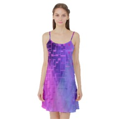 Texture Cell Cubes Blast Color Satin Night Slip