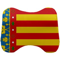 Flag Of Valencia  Head Support Cushion by abbeyz71