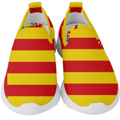 Flag Of Valencia  Kids  Slip On Sneakers by abbeyz71