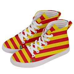 Flag Of Valencia  Men s Hi-top Skate Sneakers by abbeyz71