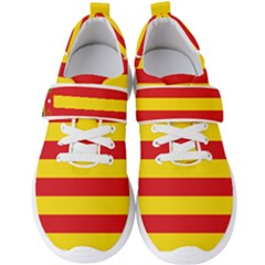 Flag Of Valencia  Men s Velcro Strap Shoes by abbeyz71