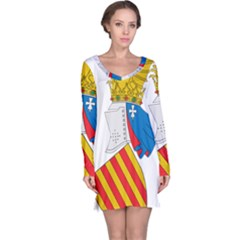 Flag Map Of Valencia Long Sleeve Nightdress by abbeyz71