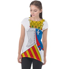 Flag Map Of Valencia Cap Sleeve High Low Top by abbeyz71