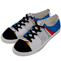 Flag Map Of Valencia Men s Low Top Canvas Sneakers by abbeyz71