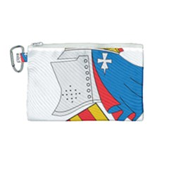 Flag Map Of Valencia Canvas Cosmetic Bag (medium)