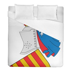 Flag Map Of Valencia Duvet Cover (full/ Double Size) by abbeyz71