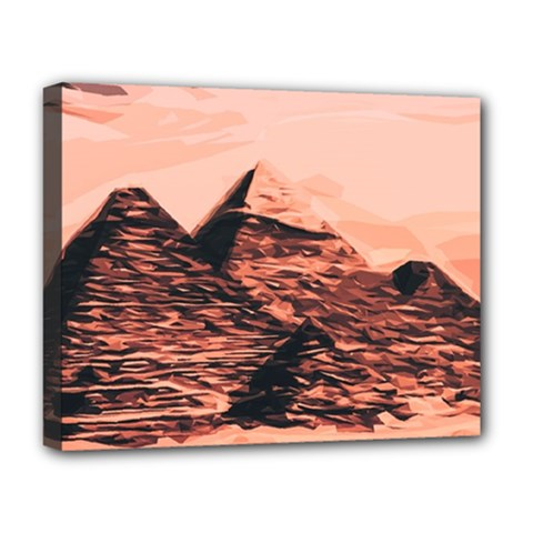 Pyramid Egypt Monumental Deluxe Canvas 20  X 16  (stretched)