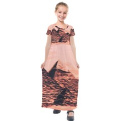 Pyramid Egypt Monumental Kids  Short Sleeve Maxi Dress