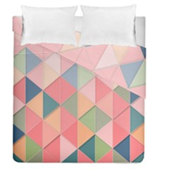 Background Geometric Triangle Duvet Cover Double Side (queen Size)