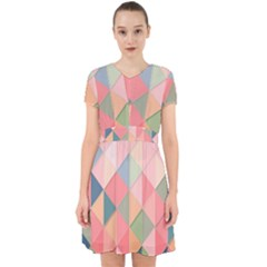 Background Geometric Triangle Adorable In Chiffon Dress by Pakrebo