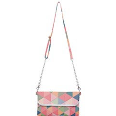 Background Geometric Triangle Mini Crossbody Handbag