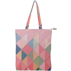 Background Geometric Triangle Double Zip Up Tote Bag