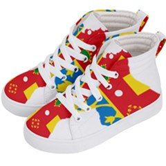 Flag Map Of Valencia Kids  Hi-top Skate Sneakers by abbeyz71