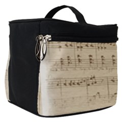 Vintage Beige Music Notes Make Up Travel Bag (small)