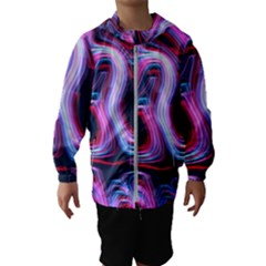 Pattern Color Curve Movement Hooded Windbreaker (kids)