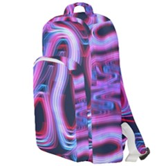 Pattern Color Curve Movement Double Compartment Backpack
