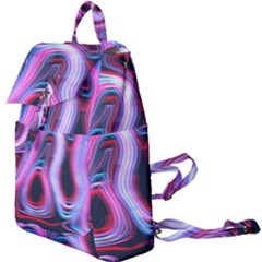 Pattern Color Curve Movement Buckle Everyday Backpack by Pakrebo