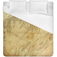 Vintage Map Background Paper Duvet Cover (king Size) by Pakrebo