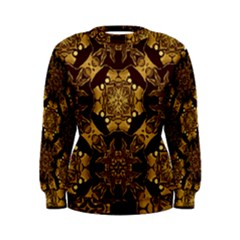 Gold Black Book Cover Ornate Women s Sweatshirt