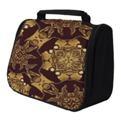 Gold Black Book Cover Ornate Full Print Travel Pouch (small)
