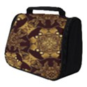 Gold Black Book Cover Ornate Full Print Travel Pouch (Small) View1