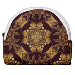 Gold Black Book Cover Ornate Horseshoe Style Canvas Pouch