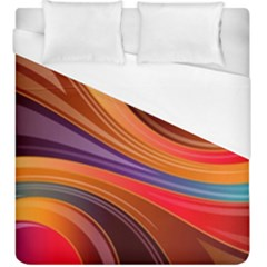 Abstract Colorful Background Wavy Duvet Cover (king Size) by Pakrebo