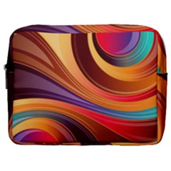 Abstract Colorful Background Wavy Make Up Pouch (large)
