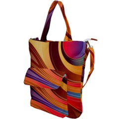 Abstract Colorful Background Wavy Shoulder Tote Bag by Pakrebo