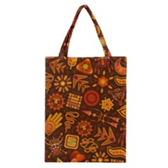 Pattern Background Ethnic Tribal Classic Tote Bag by Pakrebo