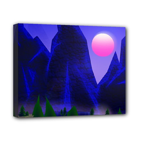 Mountains Dawn Landscape Sky Canvas 10  X 8  (stretched)