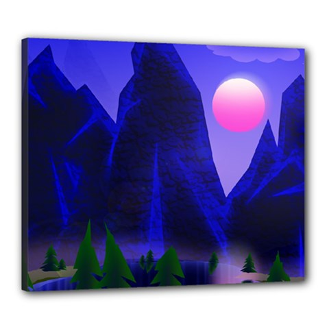 Mountains Dawn Landscape Sky Canvas 24  X 20  (stretched)