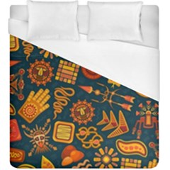 Pattern Background Ethnic Tribal Duvet Cover (king Size) by Pakrebo