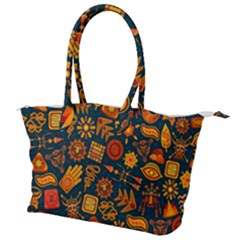 Pattern Background Ethnic Tribal Canvas Shoulder Bag