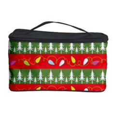 Christmas Papers Red And Green Cosmetic Storage