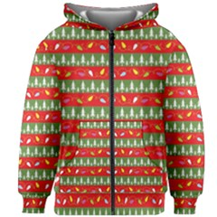 Christmas Papers Red And Green Kids  Zipper Hoodie Without Drawstring by Pakrebo