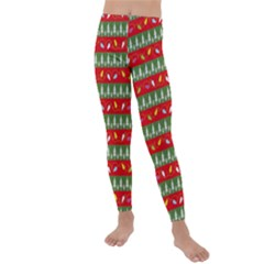 Christmas Papers Red And Green Kids  Lightweight Velour Leggings by Pakrebo