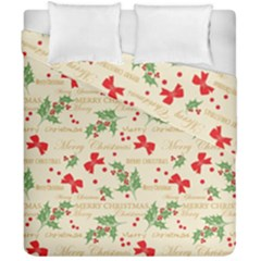 Christmas Paper Scrapbooking Duvet Cover Double Side (california King Size)