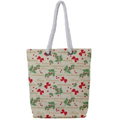 Christmas Paper Scrapbooking Full Print Rope Handle Tote (small) by Pakrebo