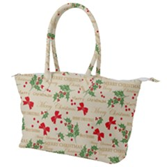 Christmas Paper Scrapbooking Canvas Shoulder Bag