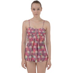Colorful Background Abstract Babydoll Tankini Set