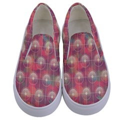Colorful Background Abstract Kids  Canvas Slip Ons