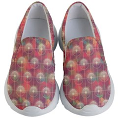 Colorful Background Abstract Kids  Lightweight Slip Ons