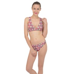 Colorful Background Abstract Classic Banded Bikini Set