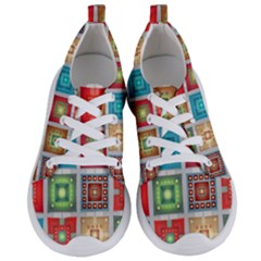 Tiles Pattern Background Colorful Women s Lightweight Sports Shoes